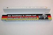 DDR OSTALGIE  ZOLLSTOCK SOZIALISMUS OCHS UND ESEL  - 2m  Holz