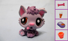 Littlest Pet Shop Dog Puppy Husky Purple 1752 and Free Accessory Authentic Lps