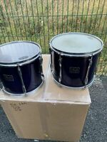 """Free P&P. Pearl 12 & 13"""" Toms. Undrilled. Purple Finish. For Drum Kit T012027"""
