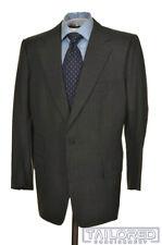 LEONARD LOGSDAIL Gray Black Houndstooth Wool Jacket Pants SUIT - BESPOKE 44 R