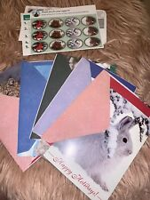 National Wildlife Federation 5 Christmas Cards And Envelopes Plus 12 Stickers