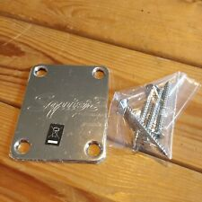 More details for new squier by fender embossed neckplate with screws strat tele stratocaster