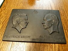 "Iron Art Cast Badge ""150 years Krupp 1811-1961"" Friedrich & Alfred Krupp!"
