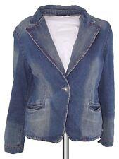 emonite giacca donna jeans denim blu taglia m medium