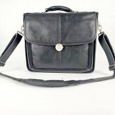 Dell Computer Laptop Notebook Messenger Bag Shoulder Bag Leather Black Business