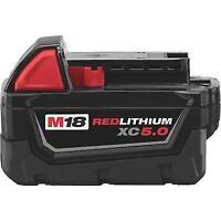 Milwaukee 48-11-1850 M18 Redlithium 5.0Ah Bat Pack