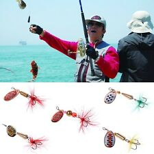 5 Pcs / Set Trout Fishing Lures Spinner Bait Artificial Fish Spinning Stosh