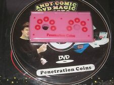 Penetration Coins Magic Trick - DVD Instruction, Close Up, Street Magic, Pocket