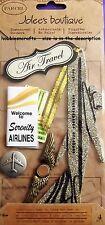 EK Success Jolee'S BOUTIQUE Pegatinas 3-D Parcel Vacaciones Viajes Aéreos Avión De Brillo