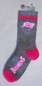 Tampa Bay Buccaneers Crew Socks Medium Size 5 to 10 Melange Pink