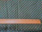 Vintage Green Geometric Cotton Fabric 5 Yards 40' Wide 1950's?