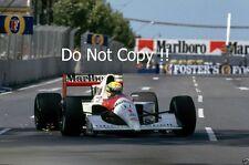 Ayrton Senna Mclaren MP4/6 ganador australiano Grand Prix 1991 fotografía