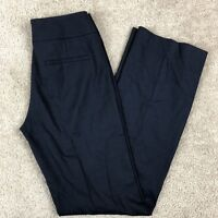 Elie Tahari Size 2 Blue Wool Blend Career Pants Flat Front