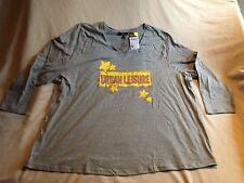 YU by Ulla Popken Damen Langarm Shirt Gr 58/ 60 Hellgrau NEU mit Etikett regular