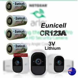 4 x Eunicell 3V CR123A CR17345 Non Rechargeable Battery Netgear Arlo Camera