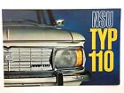1966 NSU Type 110 Original Car Sales Brochure Catalog - Auto Union Audi