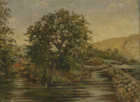 Early 20th Century Oil - River Tree