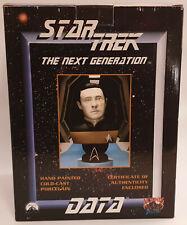 More details for star trek : data hand cold cast porcelain bust made in 1998