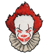 We All Float Down Here Horror Movie Clown Embroidered Patch Applique New Vest
