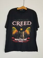 Creed Weathered World Tour Concert T-Shirt 2002 Size Xl 2-Sided Large Graphics