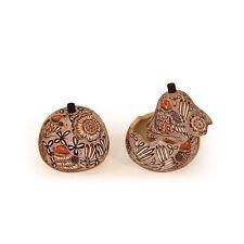 "#176 Fine Gourd Hand Carved Assorted Designs Box Chest Fair Trade Peru 5"" Coffer"