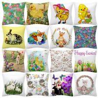 Easter Rabbit Print Pillow Case Polyester Sofa Car Cushion Cover Home Decor