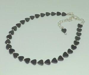 Natural Hematite Hearts Beads Ankle Bracelet Beach Festival Anklet Healing