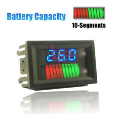 10 Segment Battery Capacity Power Level LED Indicator 12/24/36/48/60/72V For Car