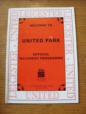 14/02/1995 Leicester United v Moor Green  (Good Condition)
