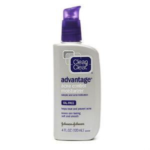 Clean & Clear Advantage Acne Control Moisturizer, 4 OZ Pump Bottles (Pack of 2 )