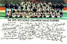 1972 MIAMI DOLPHINS TEAM AUTOGRAPHED 6x9 RP PHOTO EARL MORRALL GRIESE CSONKA
