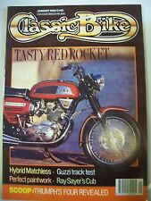 Classic Bike Magazine. No. 120. January, 1990. Triumph's Four Revealed. Matchles