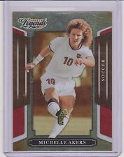 RARE 2008 DONRUSS LEGENDS MICHELLE AKERS SOCCER CARD #33 ~ RED PARALLEL /250