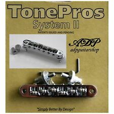 TonePros TP6R-C CHEVALET NASHVILLE ROLLER saddle Bridge SMALL POST USsize CHROME
