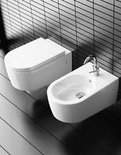 Sanitari bagno water senza brida e bidet sospesi e copriwater SMILE