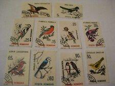 Rumänien - Romania,Vögel,1993 Sing- und andere Vögel,Satz 10 Werte gestempelt,X