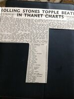 66-1 Ephemera 1965 Article The Rolling Stones Top Thanet Personality Chart