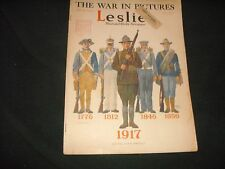 Leslie's Illustrated Weekly Newspaper  1776-1917 'Never Knew Defeat' Oct/20/1917