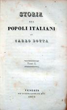 1836-1837 – CARLO BOTTA, STORIA DEI POPOLI ITALIANI – STORIA ITALIANA MEDIOEVO