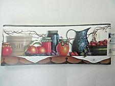 Lot of 2 Chesapeake Fruit Pitchers Jars Prepasted Vinyl Wallpaper Border 5 yards