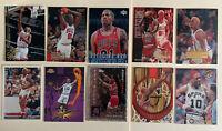 DENNIS RODMAN ~ Chicago Bulls 1990's 10 Insert Cards Lot 9 Inserts! Last Dance