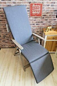 HKS Kettler Auflage Relax Relaxliege 8867 179 x 50 cm Dessin 867 Grau Sitz