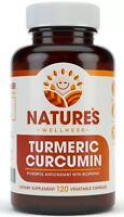 1600mg Turmeric Curcumin Supplement with Bioperine - 120 Veg Capsules
