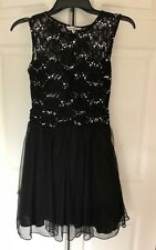 SPEECHLESS HomecomIng Prom Lace With   Rhinestones And Tulle Dress Black Size7