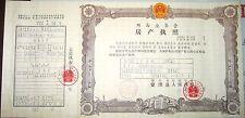 D4038, Land Deed, China Jilin Province, Korean Language 1989
