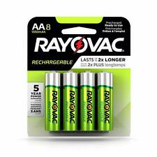 Rayovac Rechargeable 1350mAh NiMH AA Batteries 8 Pack