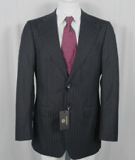 NEW! NWT! Gianni Versace Couture Very Dark Navy Striped Suit! e 54 US 44 *Italy*