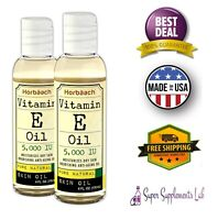 NATURAL VITAMIN E OIL NATURAL 5000 IU 8 oz Moisturize Face Skin Scars Hair Care