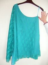 Gorgeous Jade, Turquoise Lace Style One Shoulder from Boohoo - Size 10 - BNWT!!