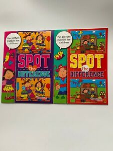 2 x Spot the Difference Books Puzzle Challenge Activity for Kids/Children
